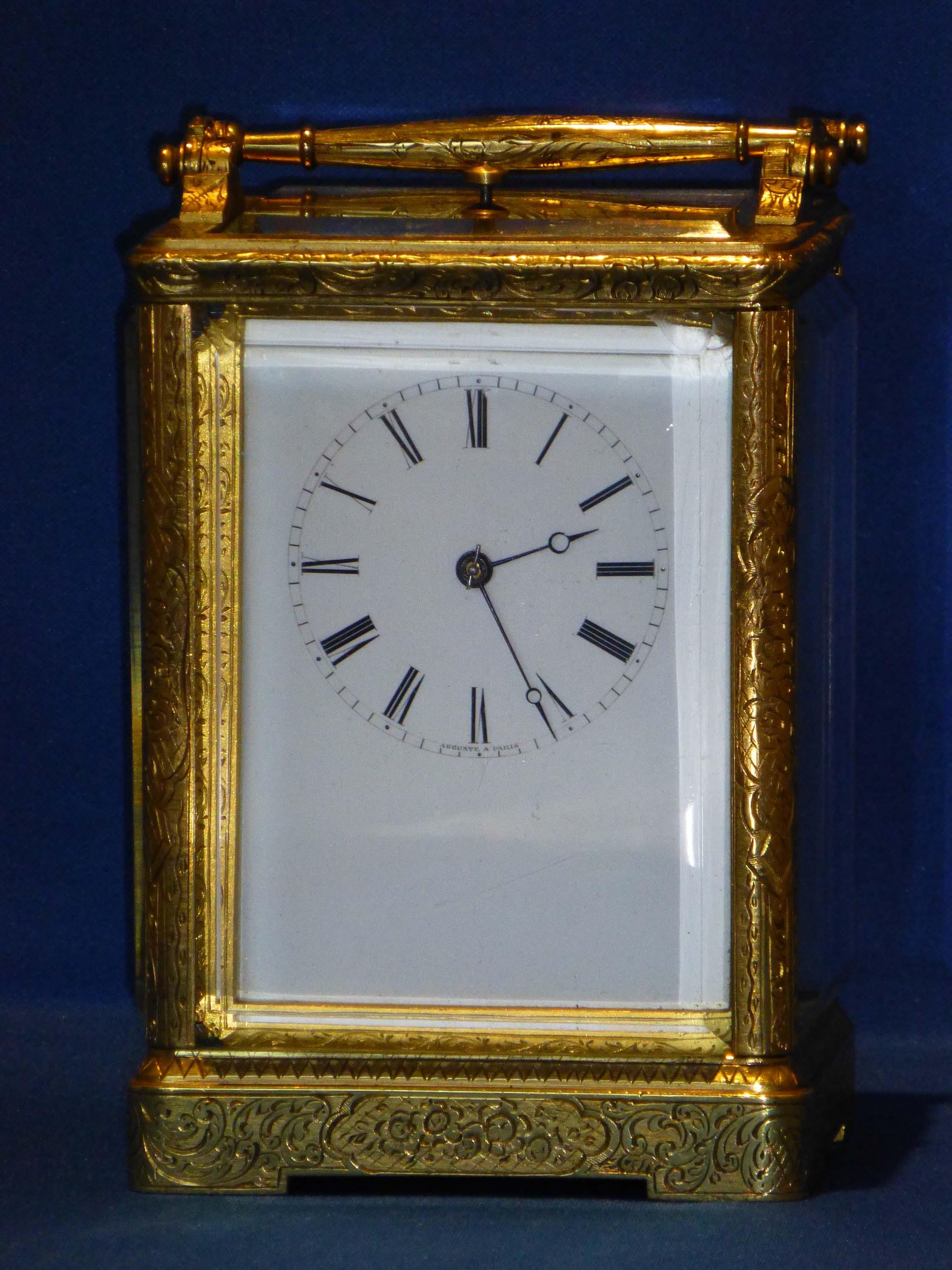 Antique Carriage Clock Carriage Clock By Auguste Paris